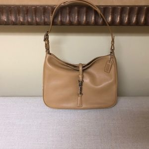 Coach womens tan leather purse